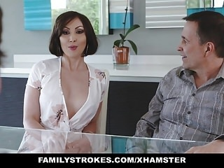 FamilyStrokes- Kinky Aunt Fucks Step-Nephew amateur hardcore top rated video