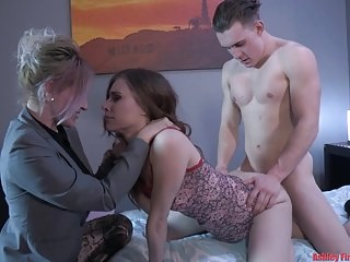 Mommy and Brother House Rules (Modern Taboo Family) blowjob group sex top rated video