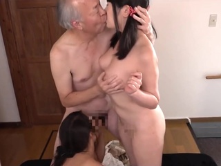 Grandpa fined two granddaughter to take off their clothes and fuck big tits anal asian video