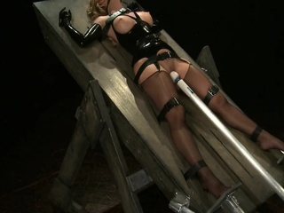 Latex bondage trap straight fetish bdsm video