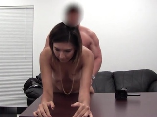 Simple job interview ends with a creampie fuck scene casting creampie cumshot video