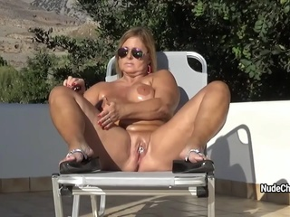 NudeChrissy - Crete Nudist Holidays mature solo female big ass video