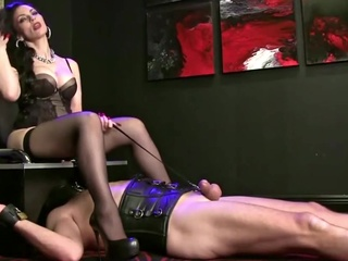 Humiliated as a toilet seat straight face sitting femdom video
