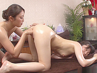 Alluring Asian lesbians get freaky in a massage parlour anal/anaru asian cunnilingus video