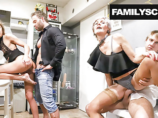 Horny Family Visits Swingers Club amateur blowjob cumshot video