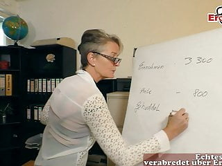 german mature woman secretary seduced younger guy in office blowjob funny mature video