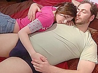 Caught by daddy brunette handjob hd video