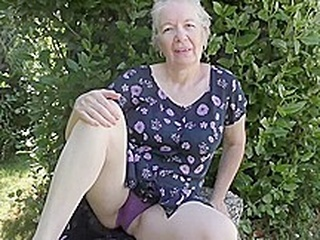 Horny granny, Caroline took off her dress and started masturating, in front of the camera blonde granny hd video