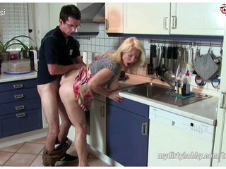 German Amateur Milfs with 3 guys. blowjob creampie hd video