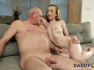 DADDY4K. Skinny peach speaks Russian to BFs dad then they fuck blonde blowjob czech video