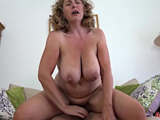 Camilla A is a blonde plumper who seems to like her handsome neighbor's cock big ass blonde granny video