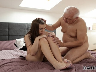 DADDY4K. Old man has troubles with computer but not with his dick blowjob czech european video