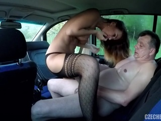 Czech Street taxi big ass car czech video