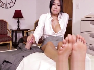 Korean foot goddess asian big tits brunette video