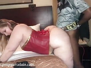 Paige Porcelain bbw interracial pov video