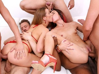 Girlfriends In An Orgy Double Penetration With A Crowd Of Muscular Fir With Cindy Shine, Ian Scott And Alexis Crystal anal big cock brunette video